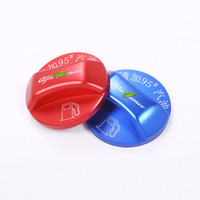 отделка крышки топливного бака оптовых-Aluminum Alloy Red blue Colors Fuel Tank Cover Cap Trim For Alfa Romeo Giulia Stelvio 2017 Car Accessories
