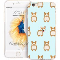 Wholesale super cute iphone cases - Super Cute Corgi Dog Clear Soft TPU Silicone Capa Shell Cases for iPhone 10 X 7 8 Plus 5S 5 SE 6 6S Plus 5C 4S 4 iPod Touch 6 5 Cover.