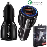 Wholesale x tablets online - QC Quick Car charger Dual usb ports A Power adapter fast adaptive car chargers for iphone x samsung s8 note gps tablet