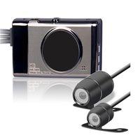 Wholesale motorcycle cameras waterproof resale online - 3 quot TFT Dual Lens Motorcycle Camera HD P DVR Camera Video Recorder Waterproof Motor Dash Camera with Rear View Camcorder