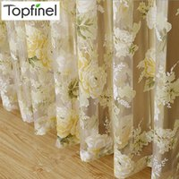 Wholesale fix rose - Topfinel Hot Rose Modern Tulle For Windows Shade Sheer Curtain Fabric For Kitchen Blinds Living Room Bedroom Window Treatments