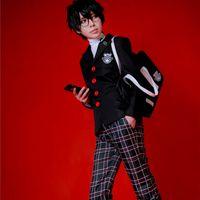 anime kleidung freies verschiffen großhandel-p5 Kuruse Akira Cosplay Kostüme japanischen Anime Persona 5 Kleidung Maskerade Mardi Gras Karneval Halloween Kostüme Kostenloser Versand