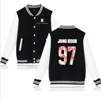 ingrosso giacca rosa dei ragazzi-kpop bts love yourself uniforme da baseball Bangtan Boys Jungkook jhope jin jimin v suga rosa felpa felpa con cappuccio giacca donna