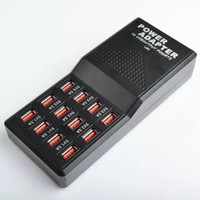 salidas de tabletas al por mayor-12 puertos cargador USB múltiple EE. UU. UE REINO UNIDO AU Enchufe 5V 12A Salida Máx. 0.3A Entrada Cargador rápido para teléfono Tablet PC
