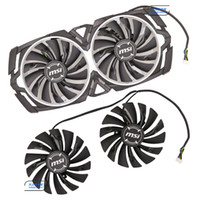 Wholesale msi cooler - Original for MSI GTX1080Ti 1080 1070Ti 1070 1060 ARMOR Graphics card cooling fan PLD10010S12HH 12V 0.40A