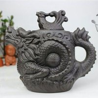 Wholesale Ceramic Stock Pots - Authentic Yixing Teapot Dragon and Phoenix Tea Pot 530ml Big Capacity Purple Clay Tea Set Kettle Kung Fu Teapot