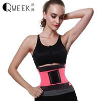 hot shapers sexy al por mayor-QWEEK Modelado Correa Mujeres Sexy Corsé Cinturón de Adelgazamiento Belly Cintura Trainer Hot Body Shapers Cinturón de Adelgazamiento Cincher Fitness
