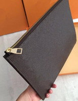 Wholesale briefcase big resale online - Men Women Briefcases Zipper Clutch Bags Big Volume Hand Bag With Box