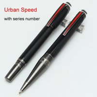 Wholesale Unique Luxury Gifts - Unique design MT Series ballpoint pen rollerball pen Black resin , PVD-coated fittings pen clip Hot Selling luxury writing gift pens