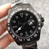 banda 18 venda por atacado-Fábrica U1 Novo Estilo Movimento Automático Explorador II Bamford Black Dial 18 k Banda de Ouro Relógio Masculino Inoxidável