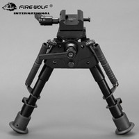 Wholesale rotating swivel mount resale online - 6 Inches Quick Detach Rotating bipod with Degree Swivel Adapter Mount for mm Rail Mount