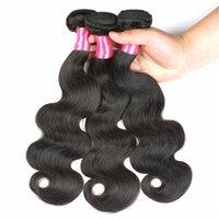 doğal gevşek kıvırcık saç uzantıları toptan satış-İşlenmemiş Brezilyalı İnsan Saç 8A Perulu Hint Malezya Saç Düz Gevşek Doğal Derin Dalga Sapıkça Kıvırcık Vücut Dalga Saç Uzantıları