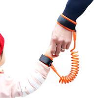 baby gürtel zu fuß großhandel-Anti-verlorene Handgelenk-Verbindungs-Kleinkind-Leine-Sicherheits-Geschirr für Baby-Bügel-Seil-im Freien gehende Handband-Band Anti-verlorene Armband-Kinder