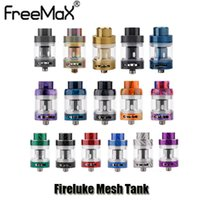 Wholesale color refill - Authentic Freemax Fireluke Mesh Tank 3ml Top Refill Carbon Fiber Resin Color Atomizer With Mesh Coil For 510 Thread Box Mod Genuine