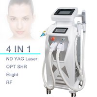 Wholesale vibrating hair - 3000w LASER Large Frequuency IPL+RF+Elight+tattoo removal laser multi-function beauty machine professional vibrating skin care machine rf