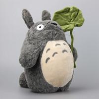 Wholesale miyazaki plush online - Anime Stuffed Animal Japanese Anime Ghibli Miyazaki Hayao My Neightor Totoro Stuffed Plush Toys Kawaii Totoro Soft Dolls Cm