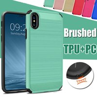 Wholesale galaxy light phone cases for sale - Hybrid Armor Brush PC TPU Case For iPhone X Plus For Samsung galaxy S8 Plus note Phone Case