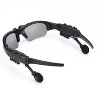Moda inteligente óculos de sol bluetooth fone de ouvido sem fio esportes  fone de ouvido estéreo de sol-vidro handsfree para mp3 player de música com  ... edcde9cf83