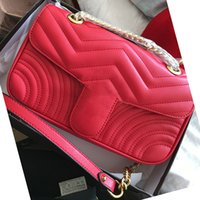 Wholesale quilted black purse - Marmont shoulder bags women luxury brand chain crossbody bag fashion quilted heart leather handbags female famous designer purse bag 2018