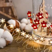 ampoules décoratives de noël achat en gros de-2 m 20 lampe arbre de Noël Led fil de cuivre Mini chaîne de lumière Ball Bulb Lamp String extérieur Lampes décoratives Lumières de Noël