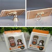 mini-ball telefon großhandel-Mini magnethalterung telefon ring halter 2in1 magnetische ball auto halterung drehbare moblie ständer halter für iphone x 8 s 7 plus samsung s9 s8