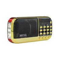 haut-parleur portable de batterie de lecteur mp3 achat en gros de-B836S Portable Mini Stéréo Radio Numérique Haut-Parleur Son Plein Monde Bande Récepteur MP3 Lecteur Rechargeable Batterie avec LED