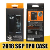 Wholesale Iphone Shells - SGP Rugged Armor Case Soft TPU Carbon Fiber Shockproof Shell for iPhone X 8 8plus 7+ 6S 6plus for Samsung S8 S9 Note8