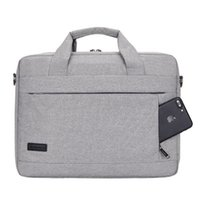 kadın için dizüstü bilgisayar çantası toptan satış-Erkekler Kadınlar için büyük Kapasiteli Laptop Çanta Seyahat Evrak Bussiness Dizüstü Çantası 14 15 Inç Macbook Pro Dell PC için