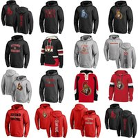 Wholesale womens browning hoodies - Hot Sale Custom Mens Womens Kids Ottawa Senators Embroidery Logo Best Quality Cheap Black Grey Red Ice Hockey Hoodies with Any Name&Any No.