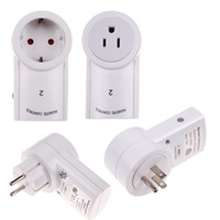 Wholesale power outlet remote control resale online - ALLOYSEED V Hz Pack Remote Control Wireless Power Outlets Light Switch Socket US EU Plug For Indoor Electrical Plug