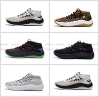 Wholesale Fabric Dye Shoes - Dame 4 Dyed White Gum Rip City White Black Red Un-Dyed Signature Basketball Shoes For Mens Damian Lillard 4 Sports Casual Shoes US 7-12