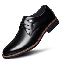 Wholesale work business dresses - Business men Shoes Leather Luxury Dress Shoes Four Seasons Male Fashion Flats sapatos Work oxford shoes for men