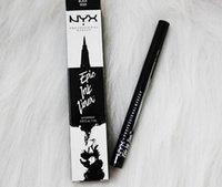 cosméticos de tinta al por mayor-NYX Marca Epic Ink Eye Liner Black Liquid Eyeliner Pencil Headed Impermeable Cosméticos Maquillaje de larga duración Eye Liner Dropshipping
