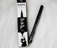 lápis de tinta venda por atacado-NYX Marca Epic Tinta Olho Delineador Líquido Preto Lápis de Cabeça À Prova D 'Água Cosméticos de Longa Duração Maquiagem Eye Liner Dropshipping