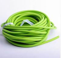 tubo de látex verde al por mayor-5mm * 5M Hunting Sling Shot Slings Caucho Sporting Tubo de Látex Natural Tirachinas Color Verde Accesorios de la Banda de Repuesto