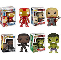 Wholesale black box toys - Funko Pop Marvel Comics Avengers Iron Man Thor Black Panther Hulk Vinyl Action Figure with Box