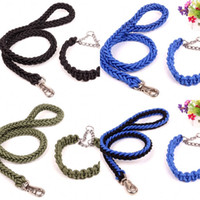 Wholesale Rotary Day - Nylon Pet Collars 360 Degree Rotary Metal Buckle Design Dog Leashes Anti Winding Braided Puppy Traction Rope Fashion 13 5jn3 B