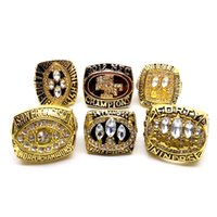 Wholesale Opal Rings Sale - Factory Direct Sale (6 PCS)1981 1984 1988 1989 1994 2012 all San Francisco Super Bowl championship ring with high quality wooden box