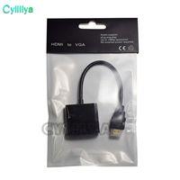 video port vga venda por atacado-1080 p HDMI para VGA Conversor de Áudio e Vídeo Cabos DP Display Port Macho para VGA Fêmea Conversor Adaptador de Cabo 100 Pcs DHL Com Pacote de Opp