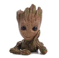 suicune figur großhandel-Galaktische Wache Flowerpot Baum Persönlichkeit Guru Puppe Groot Aktion Digital Nettes Modell Spielzeug Stifthalter für Kinder