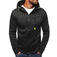 Wholesale mens hoddies - Black Male Sweatshirt Jacket Men's Zipper Hoddies Streetwear Fitness Sweatshirt Training Sport Running Mens Top