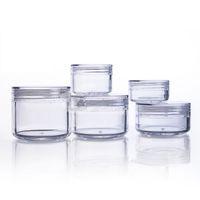 пластиковая косметическая баня оптовых-20pcs/lot Clear Cosmetic Cream Jars 3g 5g 10g 15g 20g Empty Cans for Eye Shadows Plastic Sample Containers Packaging Refillable
