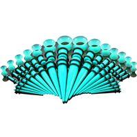 ensembles de kits à cône achat en gros de-50 Pcs / Set Chaude 9 Couleurs Acrylique Oreille Jauge Cône Et Plug Kits D'étirement Flesh Tunnel Expansion Corps Piercing Bijoux