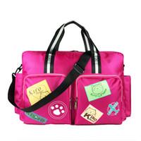 bolsas de impressão de desenhos animados venda por atacado-Designer de moda dos desenhos animados saco de maternidade de impressão pacote Grande capacidade mulheres esporte saco de fitness sacos de viagem promoção bolsa