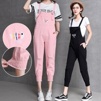 fcd836863f Fashion Fish Bone Embroidery Hole Ankle-length Women Denim Jumpsuits 2018  Summer New Hot Female Casual Cute Denim Overalls Jeans