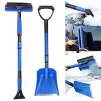 Wholesale Car Spade - Telescoping Car Snow Shovel Snow Broom 2 In 1 Set ABS Spade And Brush For Removing Snow And Ice No Hurt To Car Generic