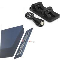 зарядное устройство для док-станции оптовых-Вертикальная подставка держатель док-станции базовая поддержка + двойной зарядки док-станция зарядное устройство для Sony PS4 Slim PlayStation 4 Slim PS4 Slim