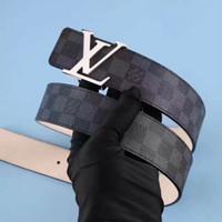 ceinture de crocodile de marque pour hommes achat en gros de-2018 marque de mode boucle ceinture en métal designer ceintures de crocodile de haute qualité ceinture en cuir véritable hommes et femmes de luxe cintos feminino 34waist