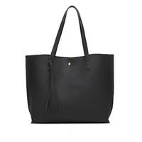 tassel leather handbag Australia - More Colors Bag Luxury Tassel Pendant Design Women Leather Shoulder Bags Large Tote Top-Handle hot sell Handbags