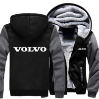 Wholesale cars hooded for sale - MIDUO Men Women Volvo Car Logo Zipper Sweatshirts Velvet Wall Warm Thicken Coat Fleece Hooded Cardigan Hoodies Casual Cotto